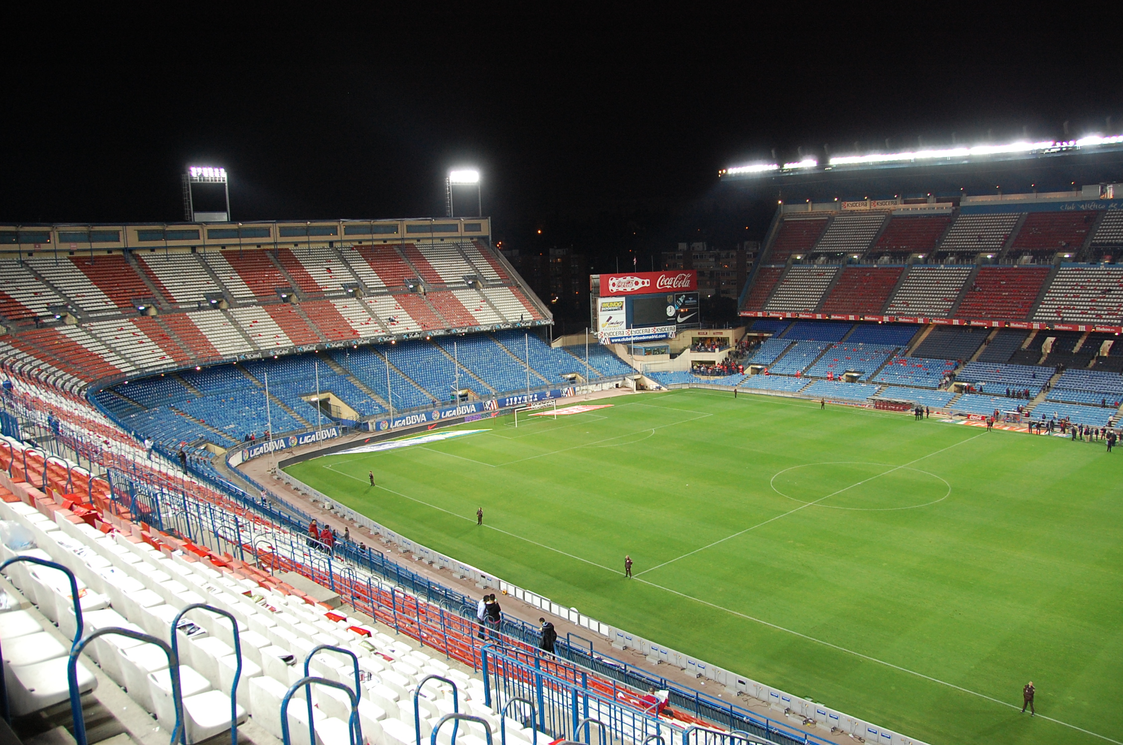 Le mytique stade Vicente Calderon.